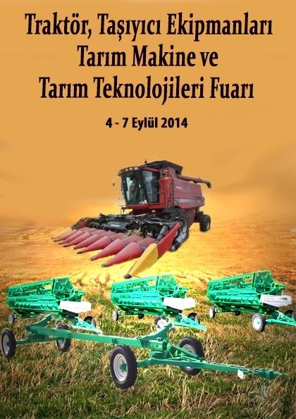Traktör, Taşıyıcı Ekipmanlar, Tarım Makine ve Tarım Teknolojileri Fuarı Etkinlik Afişi