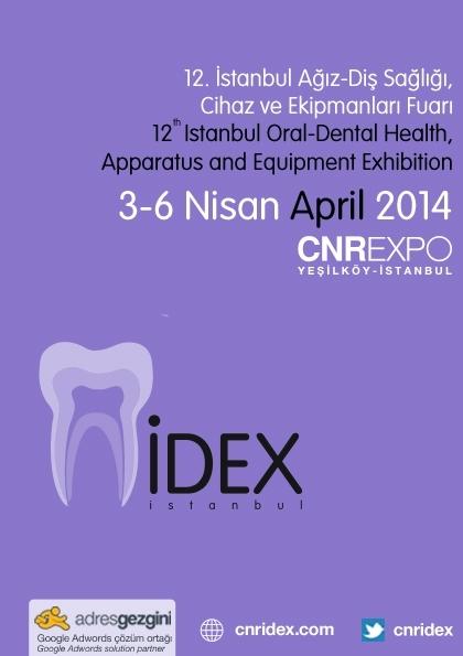 İDEX İstanbul Ağız-Diş Sağlığı Cihaz ve Ekipmanları Fuarı Etkinlik Afişi