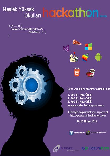 Meslek Yüksek Okulu Hackathon Etkinliği Etkinlik Afişi