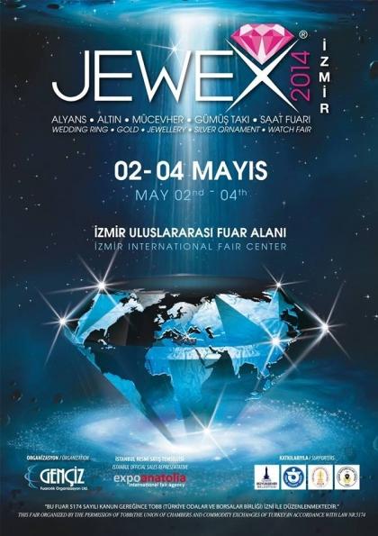 Jewex Alyans, Altın, Mücevher, Gümüş Takı ve Saat Fuarı 2014 Etkinlik Afişi