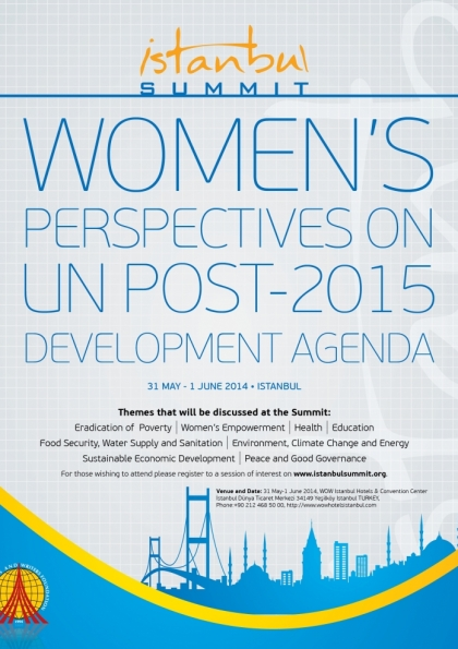 Istanbul Summit: Women's Perspectives on UN post 2015 Development Agenda Etkinlik Afişi