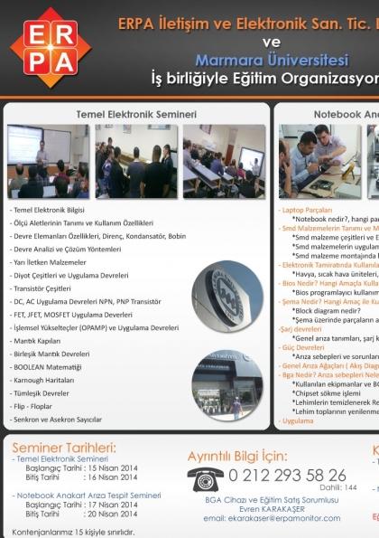 Temel Elektronik ve Arıza Tespit Semineri Etkinlik Afişi