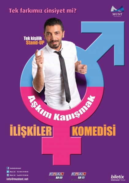 Aşkım Kapışmak - İlişkiler Komedisi Stand-Up Gösterisi Etkinlik Afişi