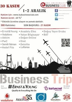 Koç Üniversitesi Business Trip Etkinlik Afişi