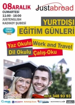 JustEnglish Yurtdışı Eğitim Günleri Etkinlik Afişi