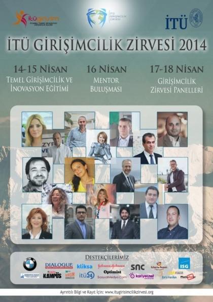 İTÜ Girişimcilik Zirvesi 2014 Etkinlik Afişi