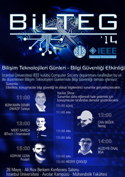 Bilişim Teknolojileri Günleri Etkinlik Afişi