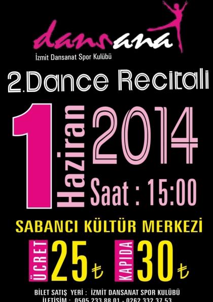 Kocaeli & Dansanat Dans Okulu 2. Dans Resitali Etkinlik Afişi