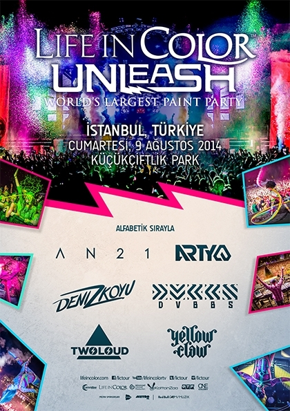 "Life In Color ""World's Largest Paint Party"" Etkinlik Afişi"