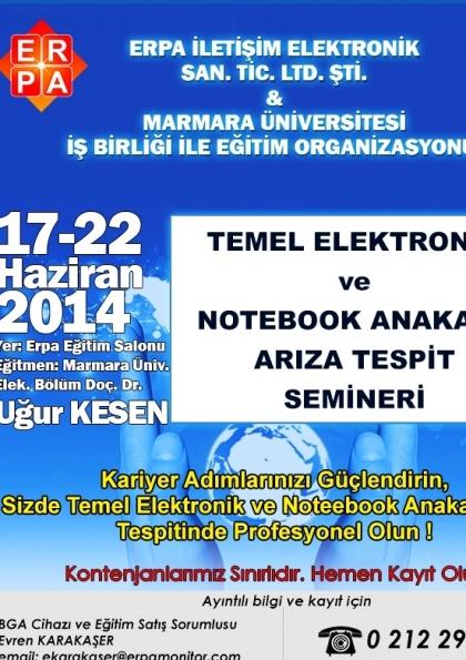 Temel Elektronik ve Notebook Arıza Tespit Semineri Etkinlik Afişi