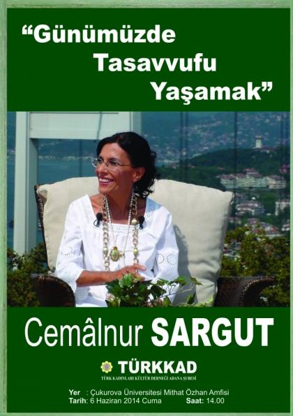 Cemâlnur Sargut Konferansı - Adana Etkinlik Afişi