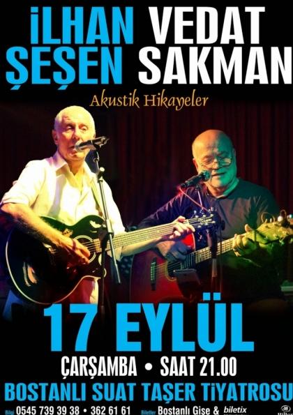 İlhan Şeşen - Vedat Sakman İzmir Konseri Etkinlik Afişi