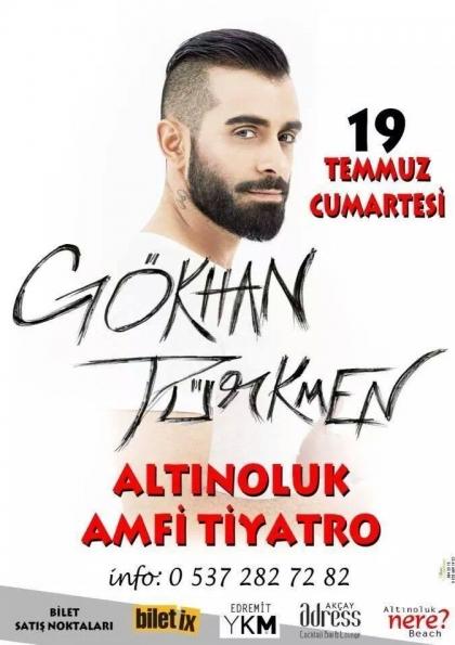 Gökhan Türkmen  Balıkesir Altınoluk Konseri Etkinlik Afişi