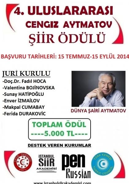 4. Uluslararası Cengiz Aytmatov Şiir Yarışması Afişi