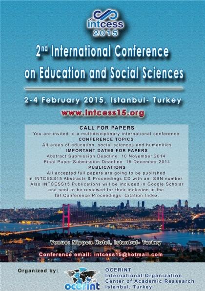 INTCESS15- International Conference On Education And Social Sciences Etkinlik Afişi