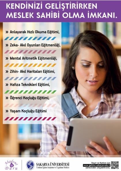Sakarya Üniversitesi Onaylı Uzaktan Eğitim İle Öğrenci Koçluğu Afişi