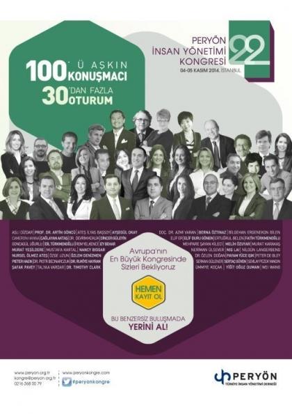 PERYÖN 22. İnsan Yönetimi Kongresi Etkinlik Afişi