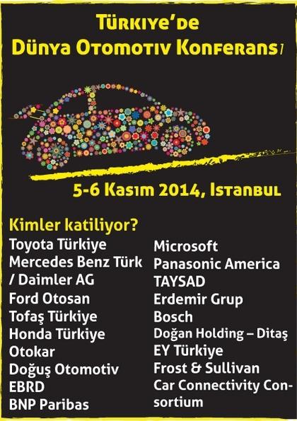 Türkiye'de Dünya Otomotiv Konferansı Etkinlik Afişi