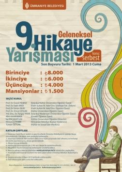 Ümraniye Belediyesi 9. Geleneksel Hikaye Yarışması Etkinlik Afişi