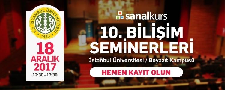 10. Sanalkurs Bilişim Seminerleri